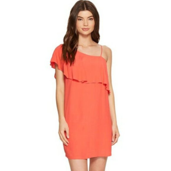 1. State Dresses & Skirts - REVOLVE 1.State Ruffle One Shoulder Dress Size 12